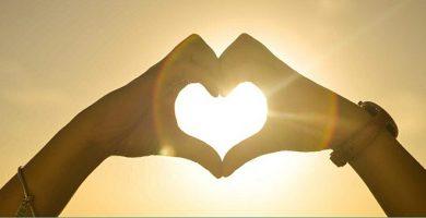 love - heart to the sun