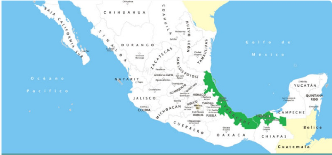 map of the olmecs