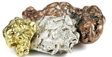 chemical elements gold silver copper