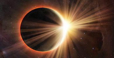 solar eclipse moon earth planet