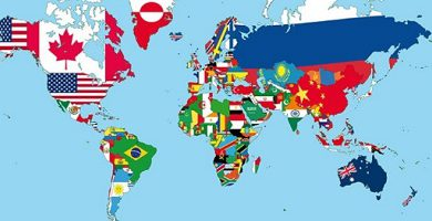 political geography world map