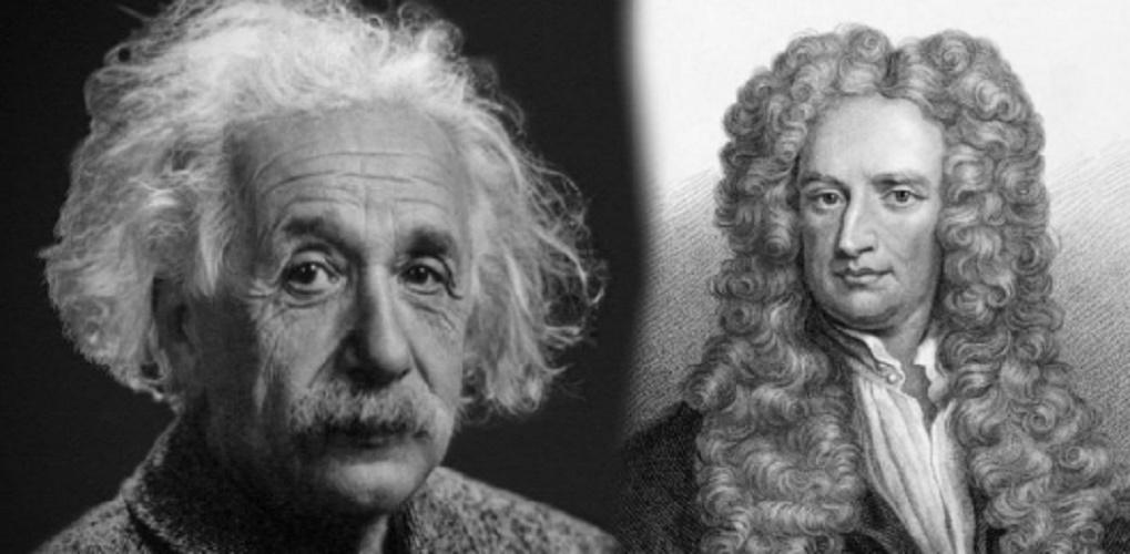 physical space einstein newton relativity