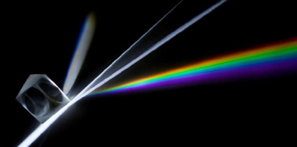 geometric geometric prism rainbow