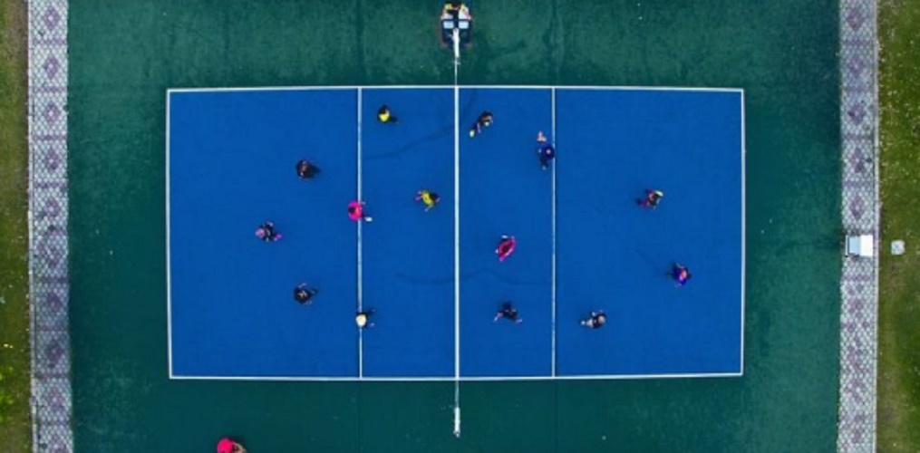 History of volleyball court