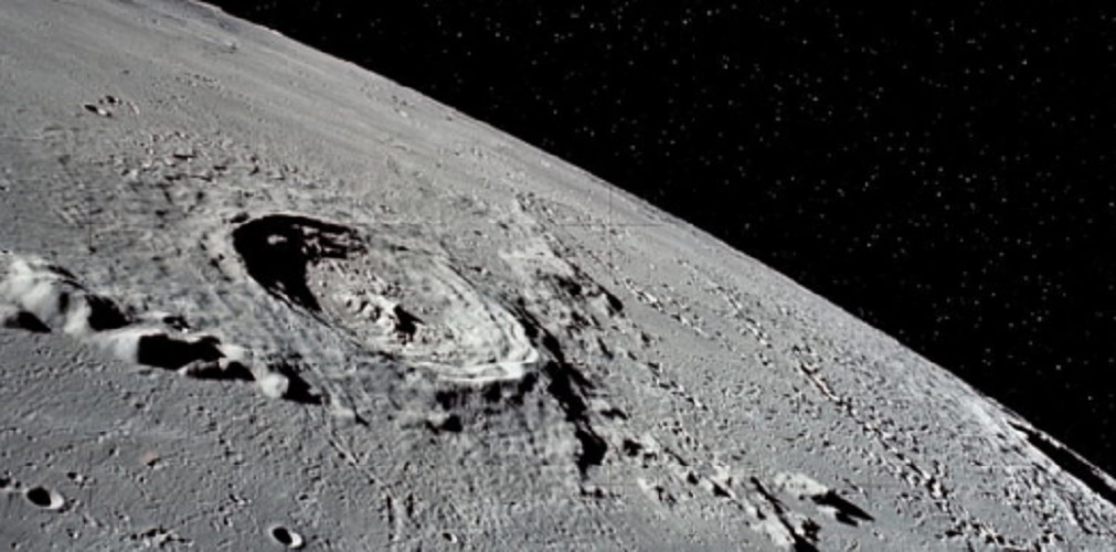 moon surface relief crater