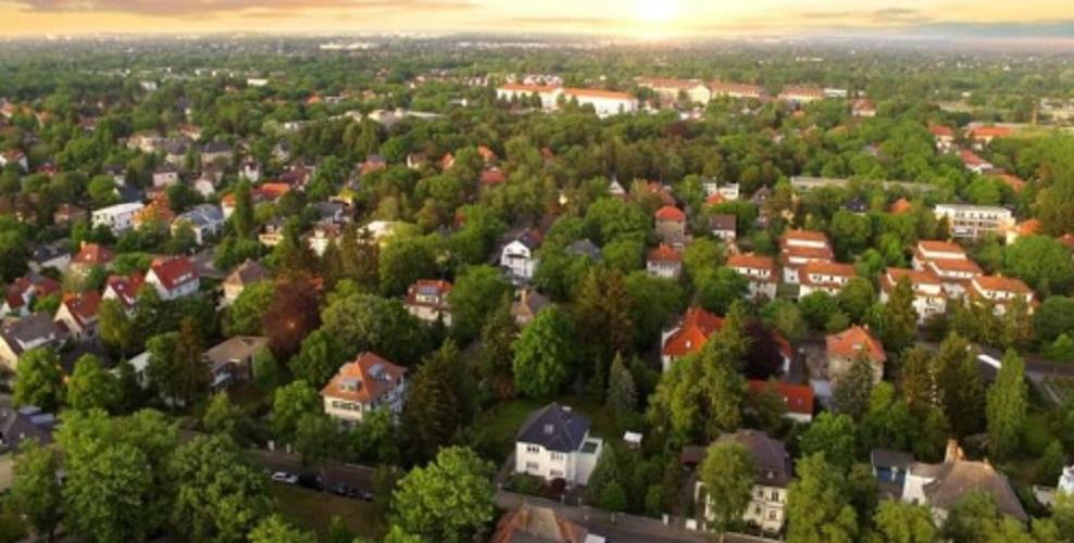 suburban cityscape