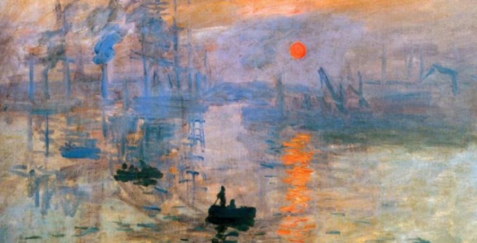 Print: Rising Sun Claude Monet