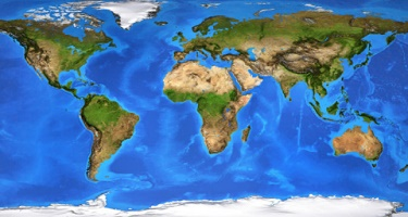 Continents - World - Earth