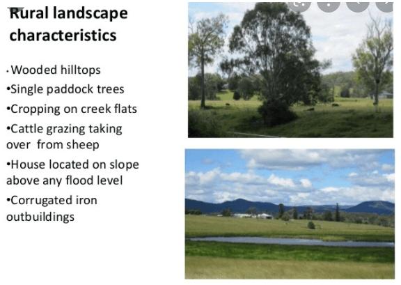Characteristics of the rural landscape