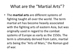 What are Martial Arts
