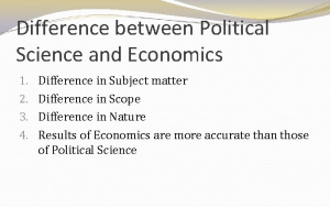 difference between political science and economics