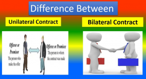 difference between unilateral and bilateral contracts
