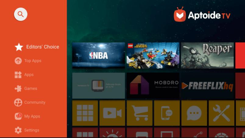 Aptoide TV (Android TV) EDITOR